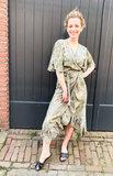 Bohemian Dress Ruffle Green_