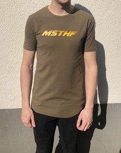 T-SHIRT MSTHF GROEN/GEEL