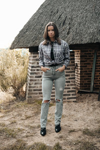 JEANS QUEEN HEARTS STRAIGHT LEG