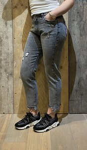 JEANS QUEEN HAERTS STRAIGHT MOM FIT MIDDLE GREY